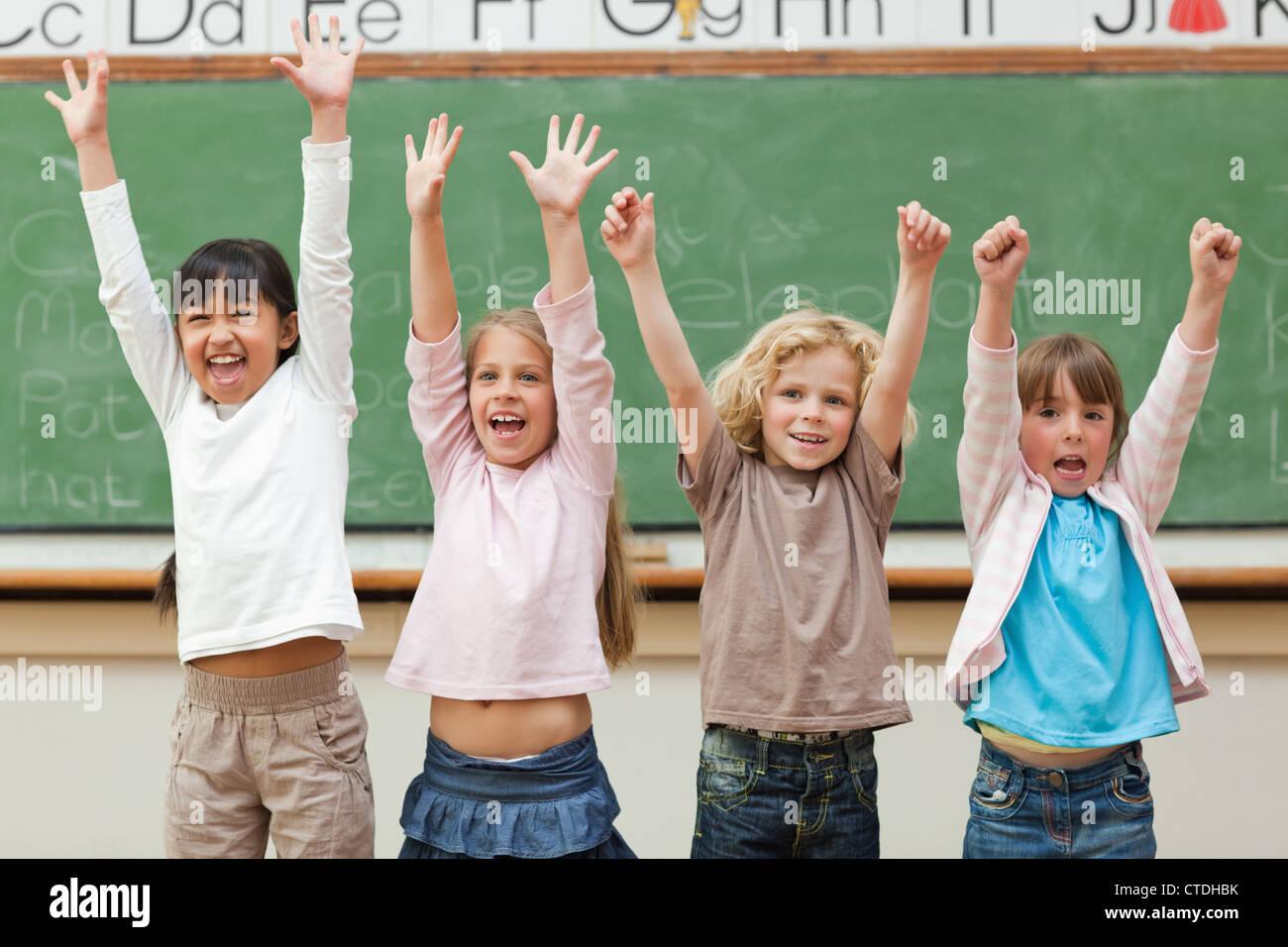 Students Celebrating School Stock Photos & Students Celebrating School Stock Images - Alamy