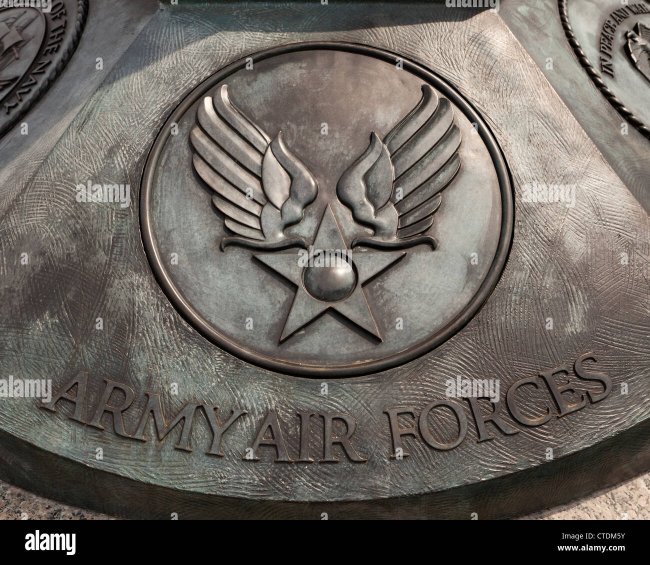 US Army Air Forces seal - Stock Image