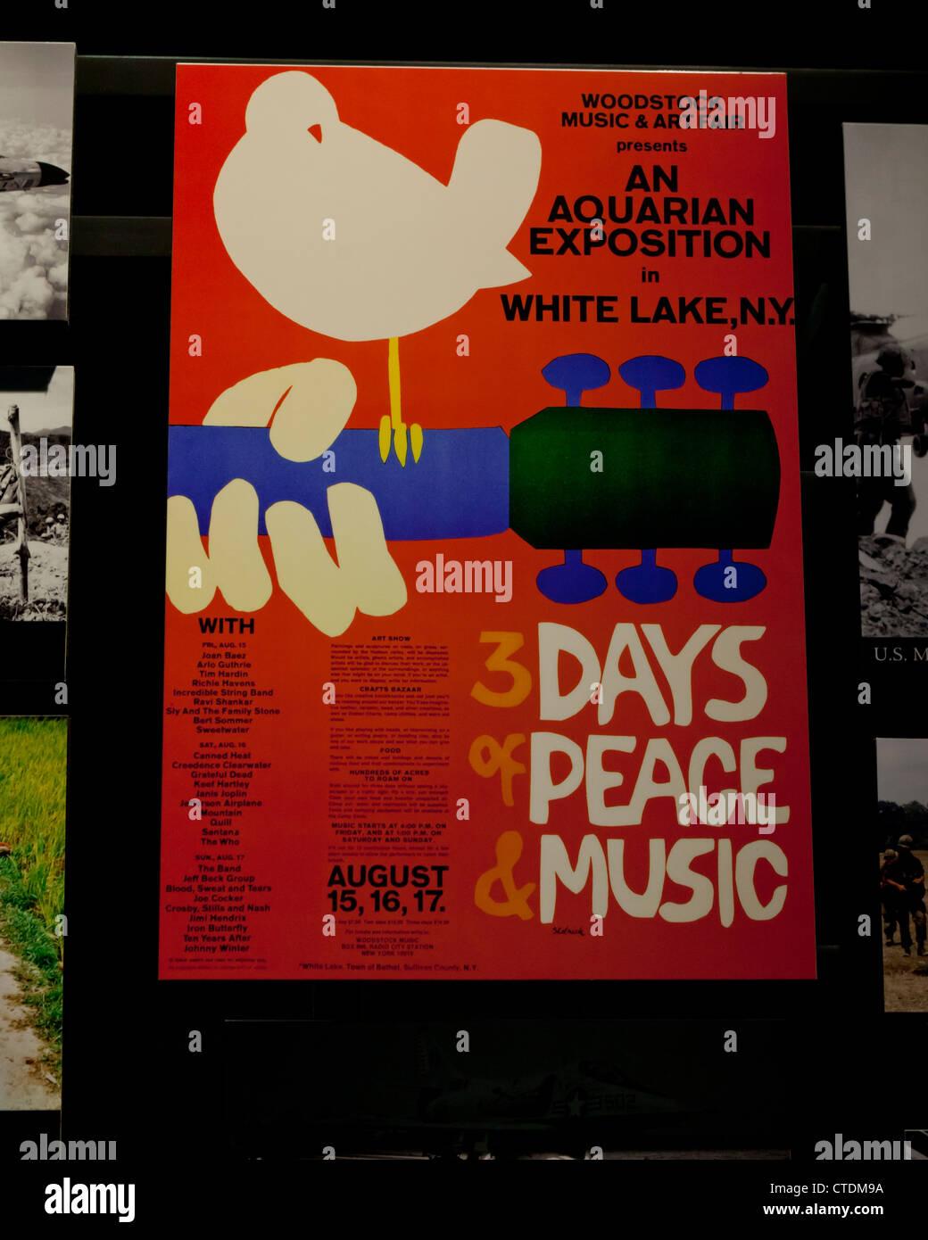 Original Woodstock poster - USA - Stock Image