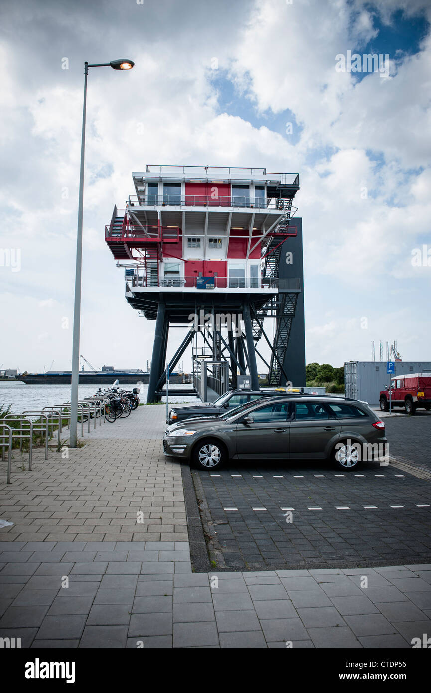 Netherlands, Amsterdam, June 2012 Former REM island radiostation in the Western Harbour Area. Photo Kees Metselaar - Stock Image
