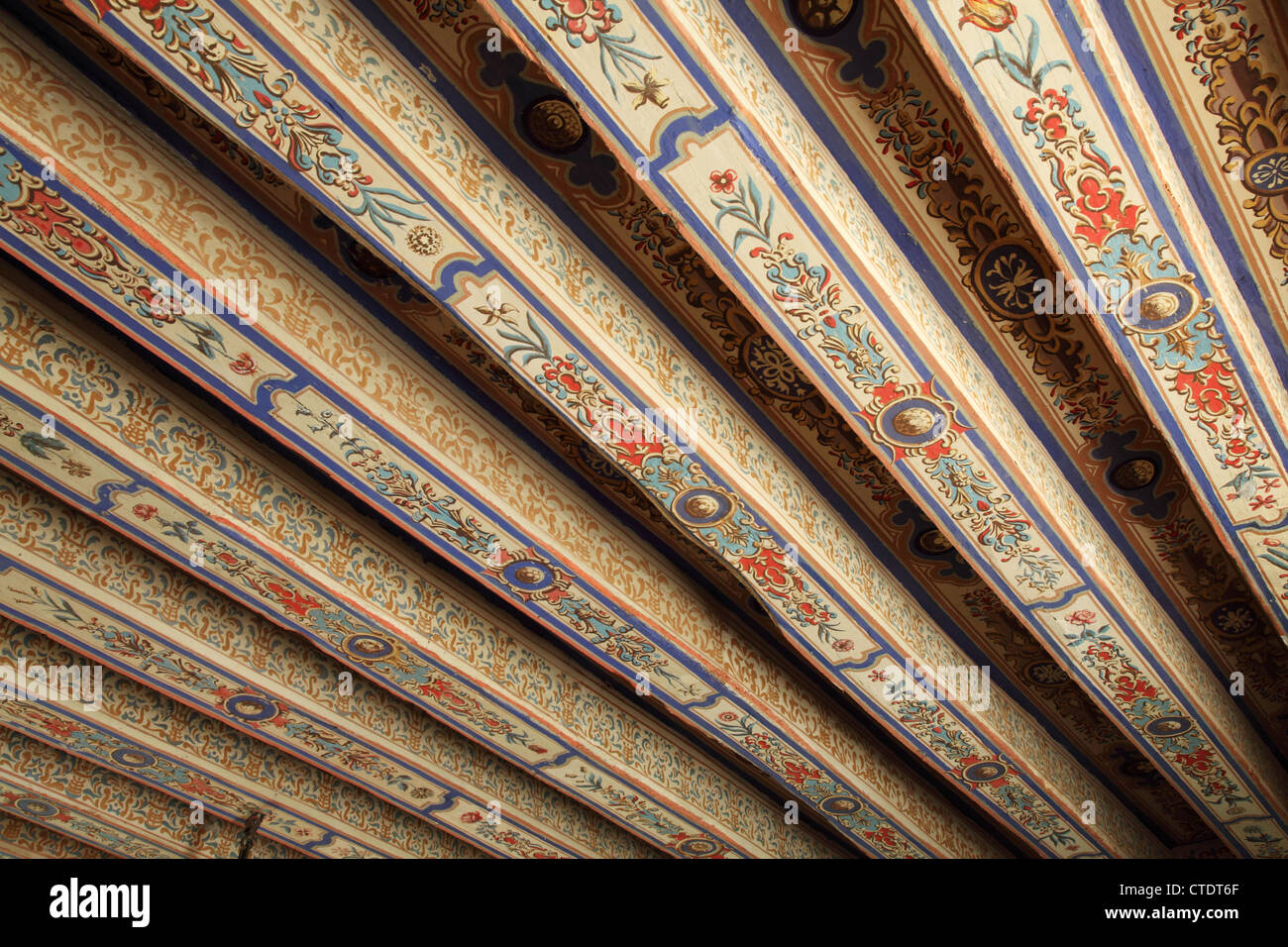 Painted Ceiling Beams High Resolution Stock Photography And Images Alamy