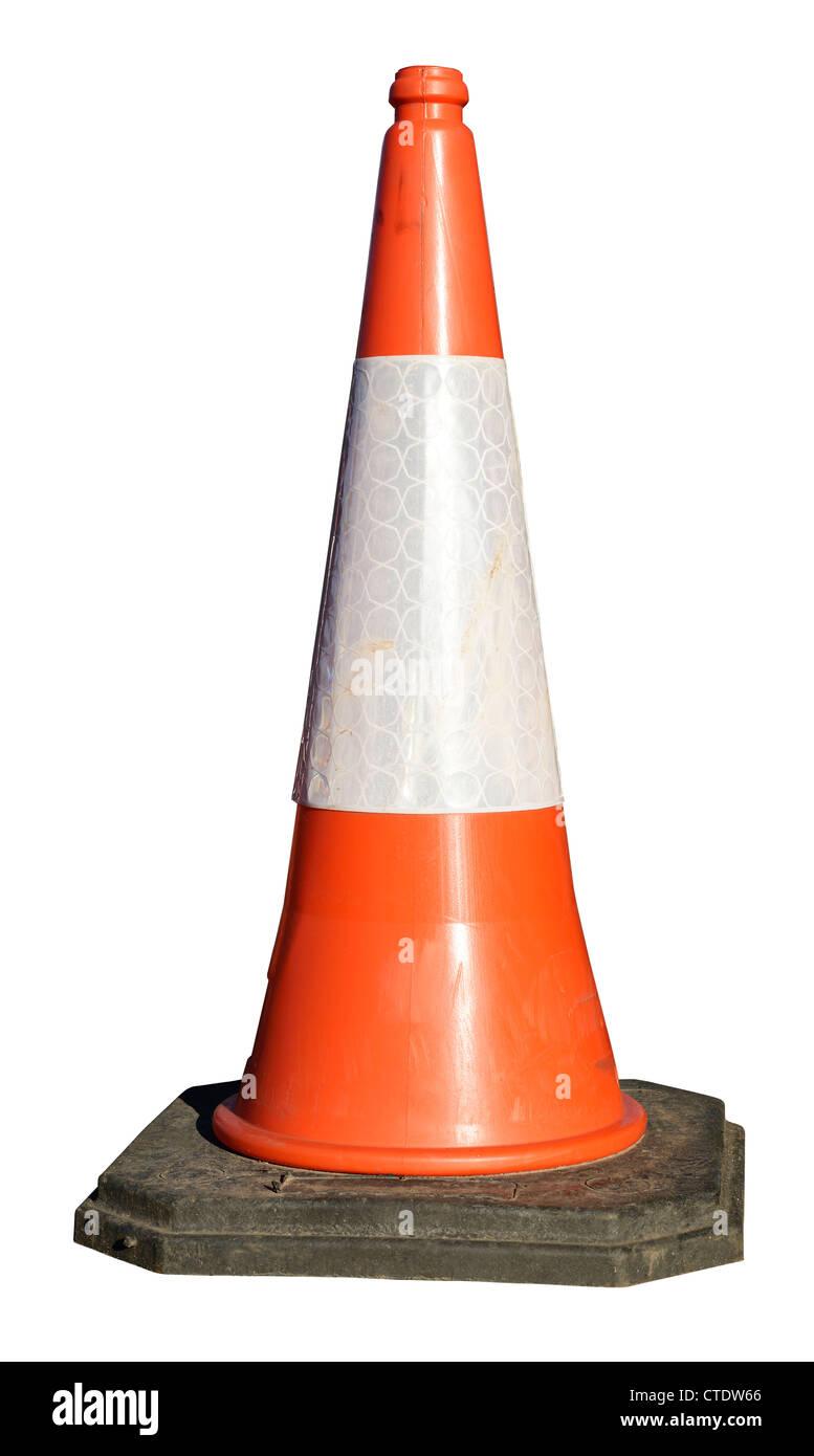 Large traffic cone - Stock Image