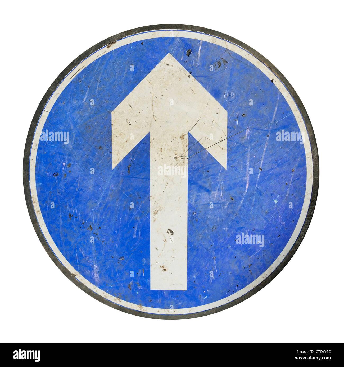 Arrow road sign - Stock Image
