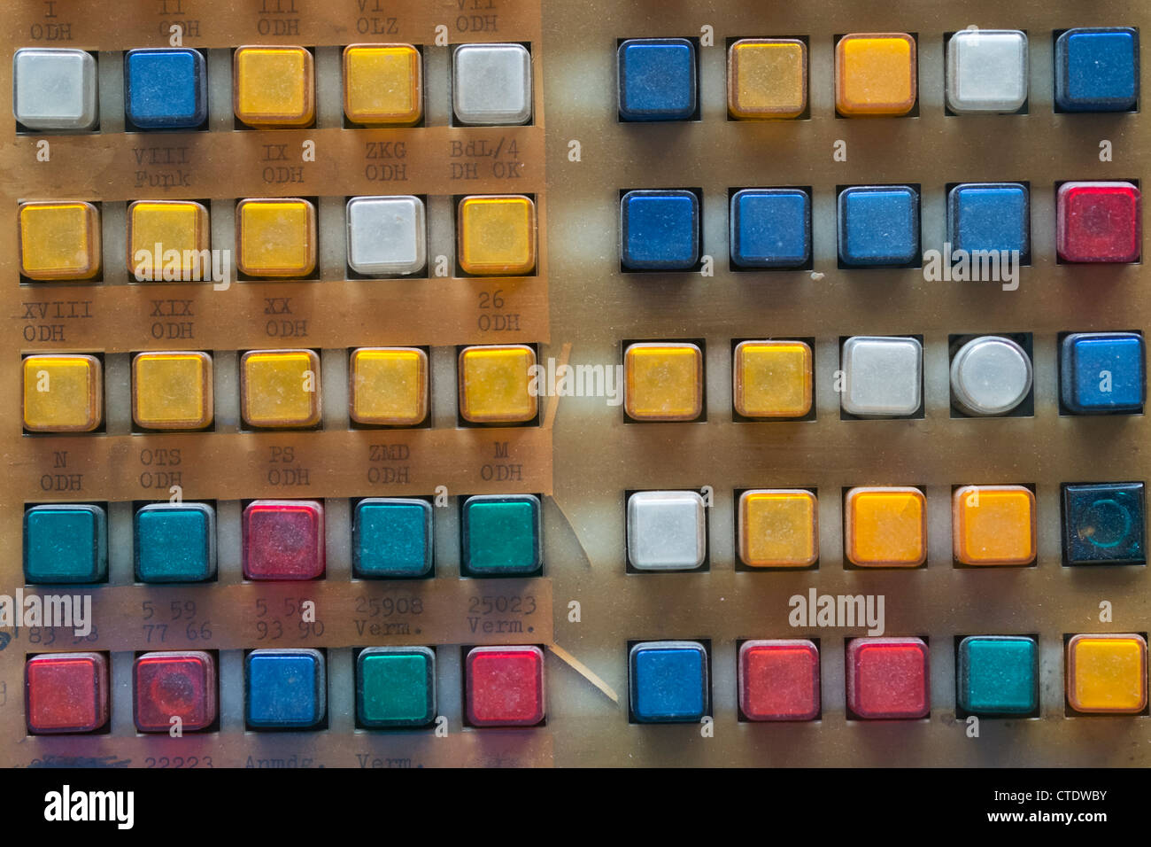 Control office switchboard at offices of East German secret Police now STASI Museum in Berlin Germany - Stock Image