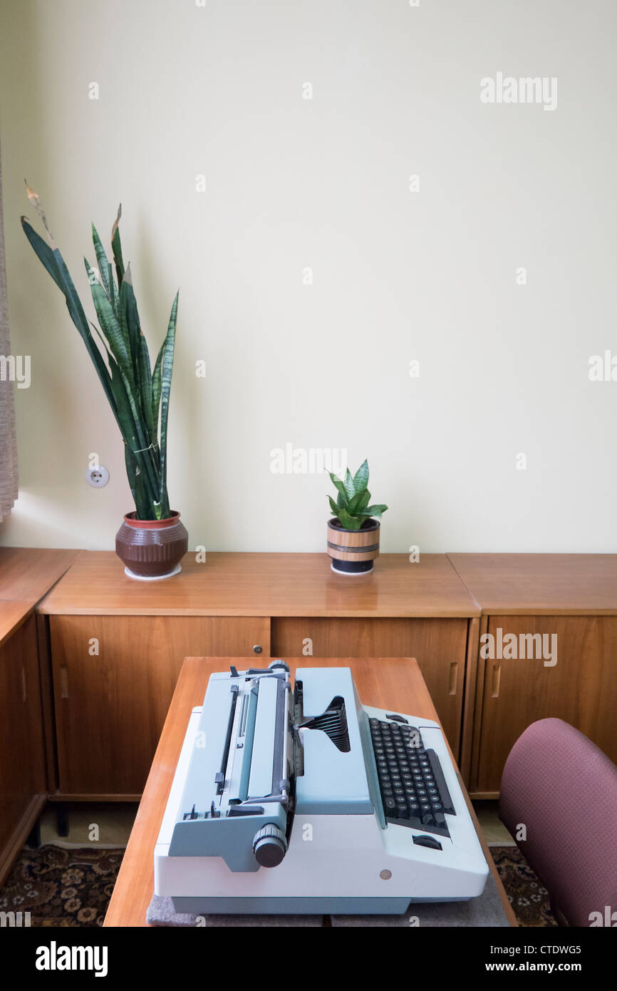 Interior of offices of East German secret Police now STASI Museum in Berlin Germany - Stock Image