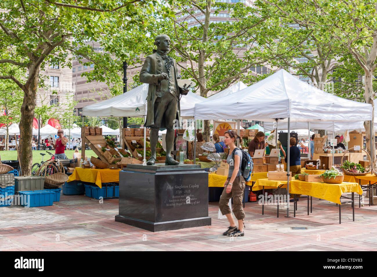 Copley square farmers market, Boston - Stock Image