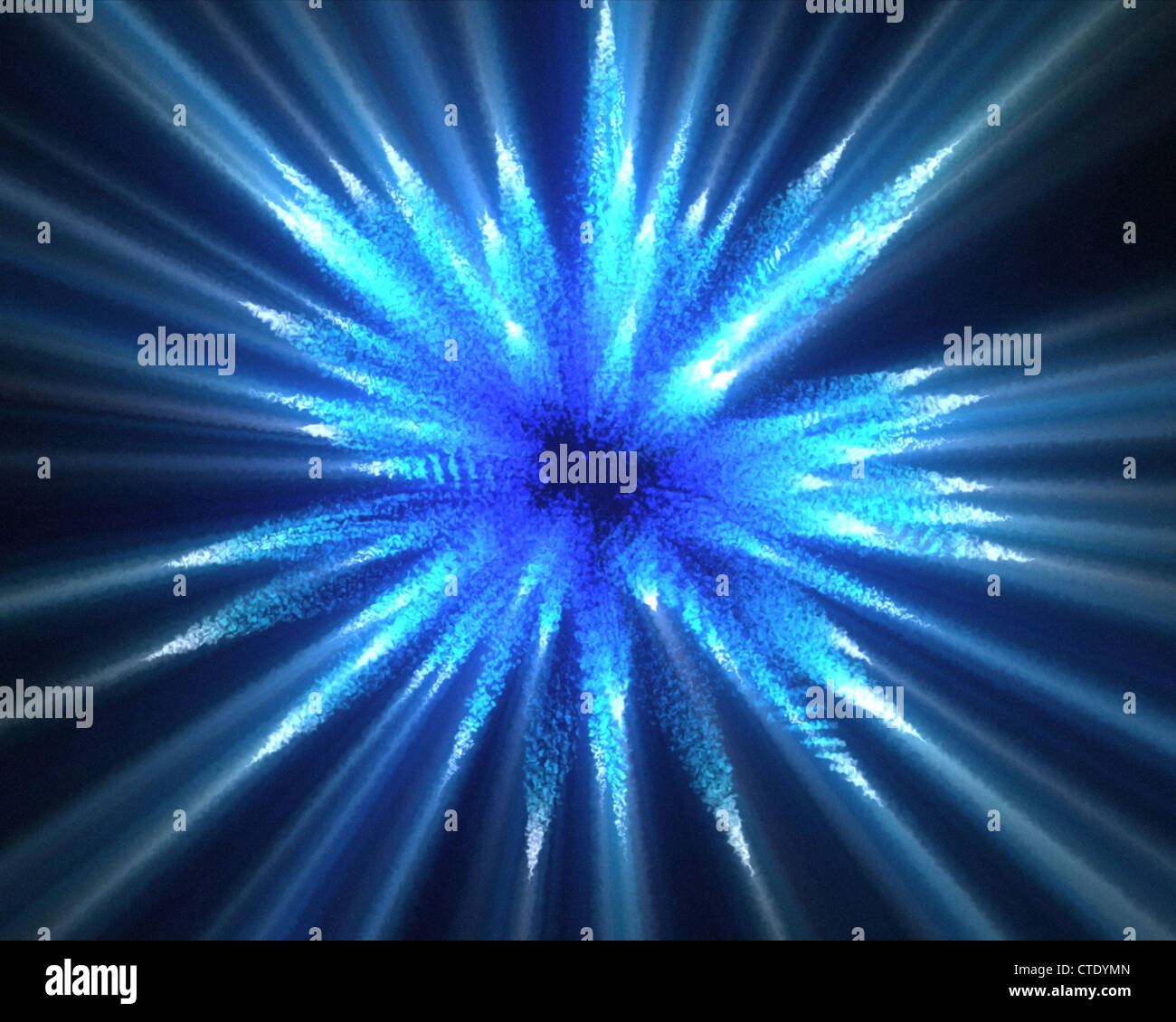 Blue lines of fluorescent lights - Stock Image