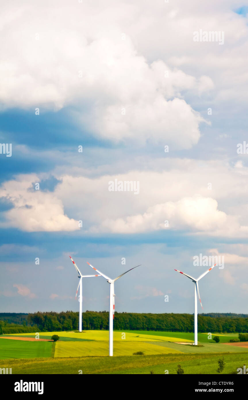 wind wheels in Germany - Stock Image