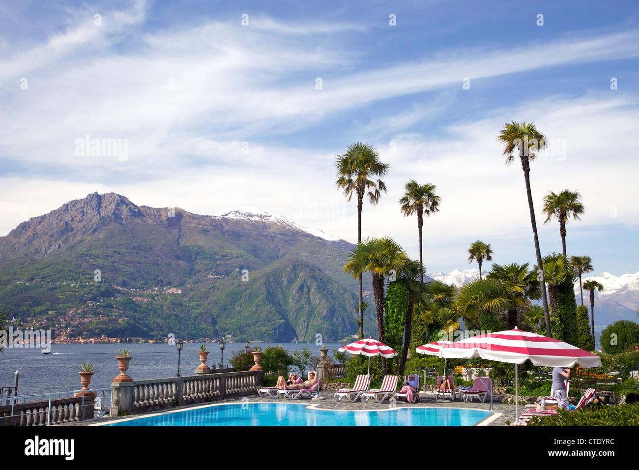 Grounds of Grand Hotel Villa Serbelloni, Bellagio, Lake Como, Northern Italy, Europe - Stock Image