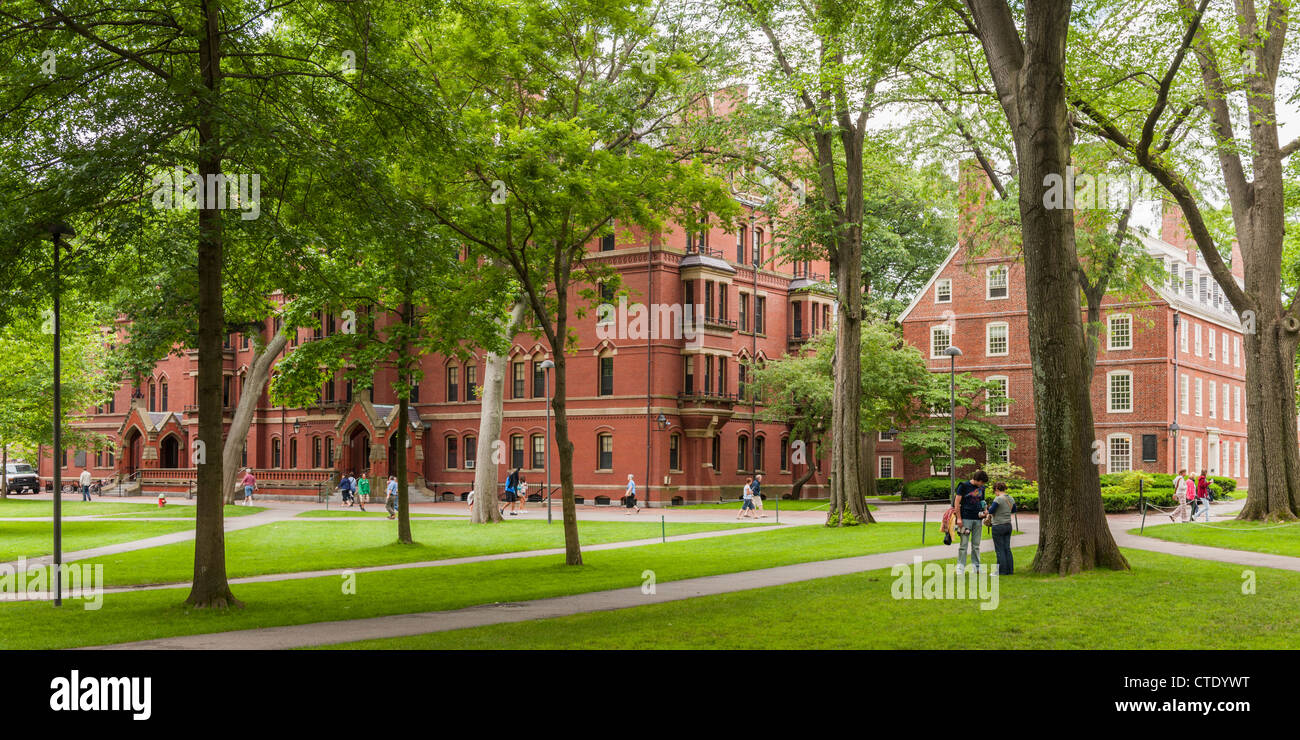 Harvard Old Yard, Cambridge, MA - Stock Image