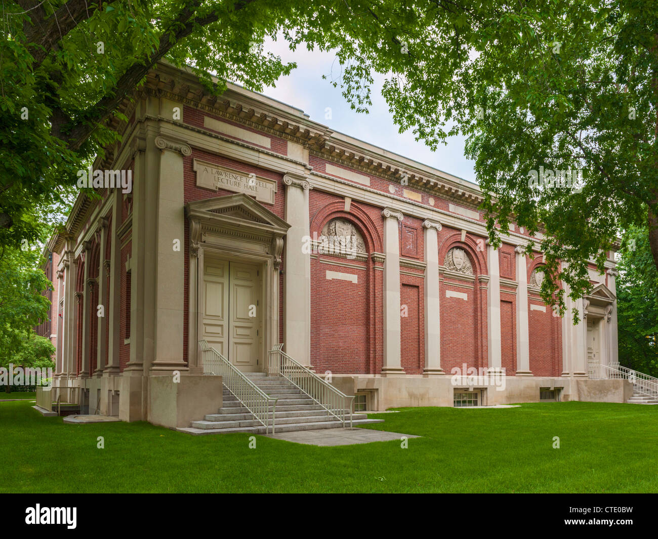 Lawrence Lowell Lecture Hall, Cambridge, MA - Stock Image