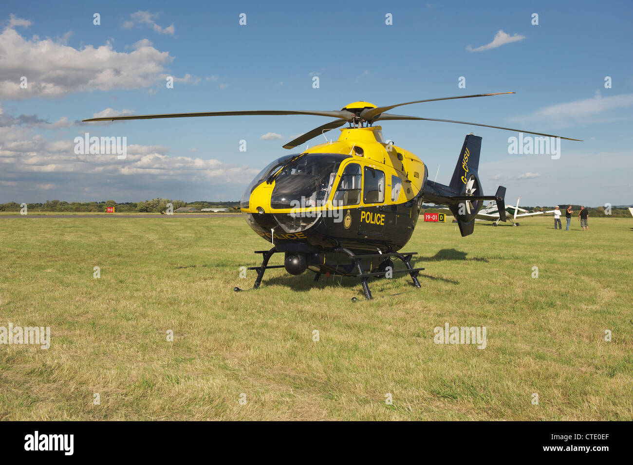 Thames Valley Police helicopter on display at 'Fly to the Past' air show at Kidlington, Oxford - Stock Image