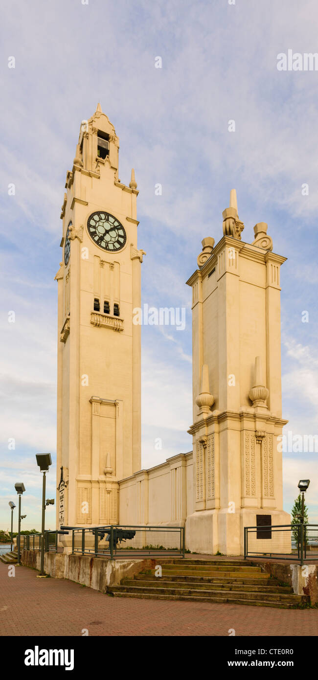 Vieux Montreal Sailors' Memorial Clock Tower - Stock Image