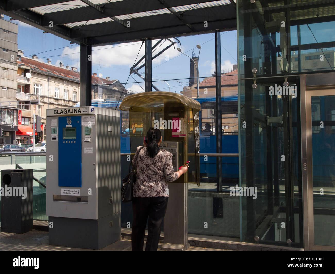 Zagreb, Croatia - street view - Kvaternik square - Stock Image
