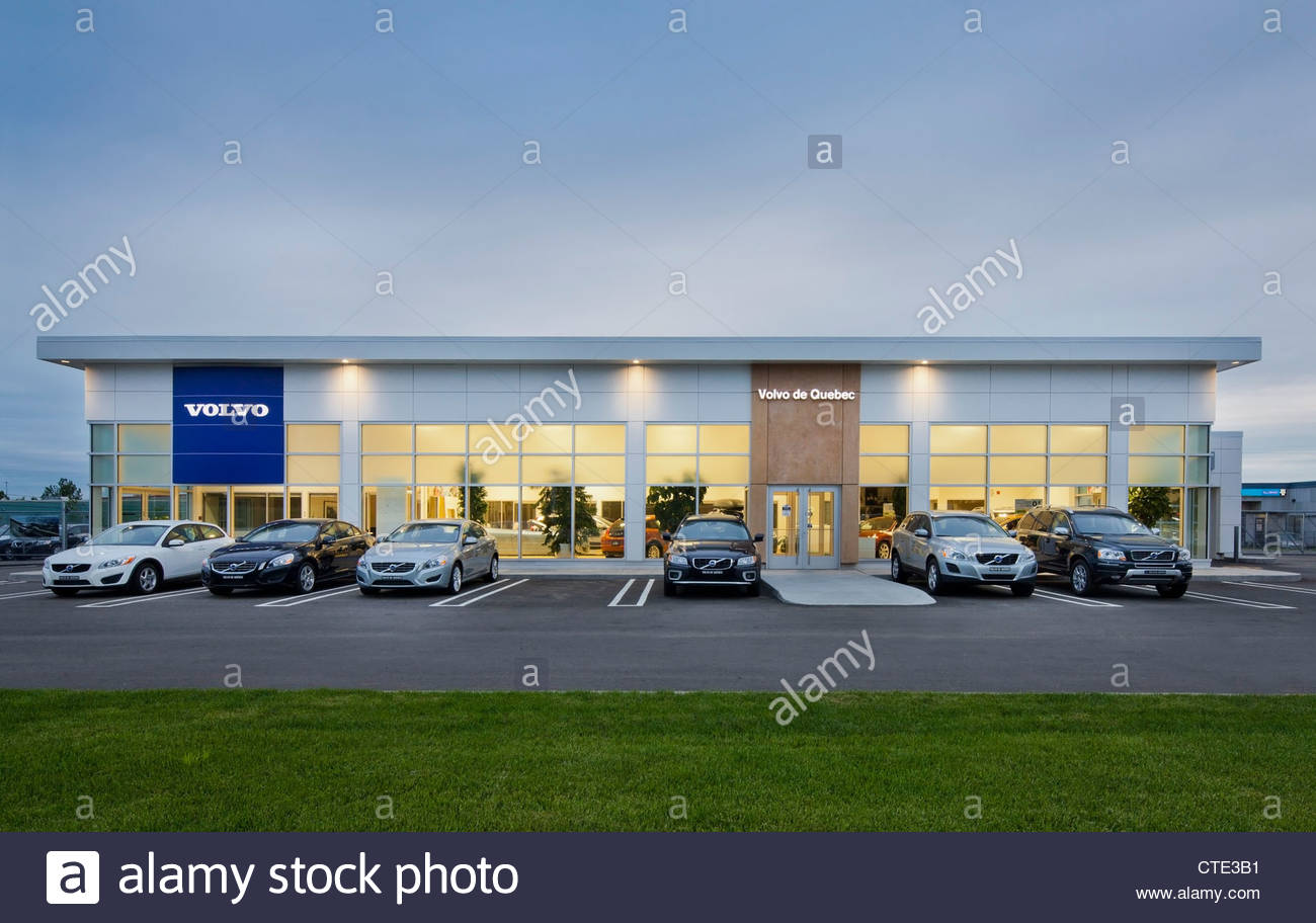 photos images image volvo in dealership photo sky dealers sign ct against the alamy stock blue
