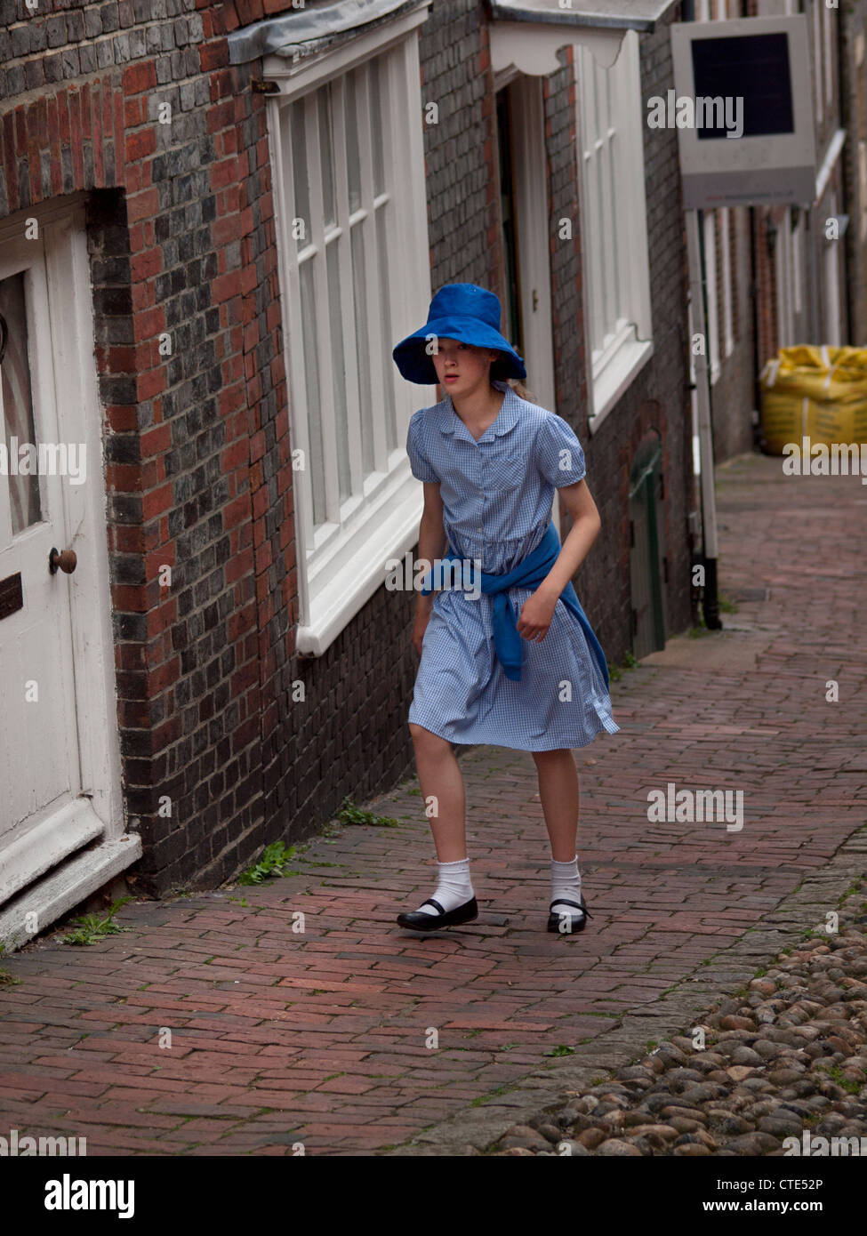 School Uniform Girl Hat Stock Photos & School Uniform Girl Hat Stock