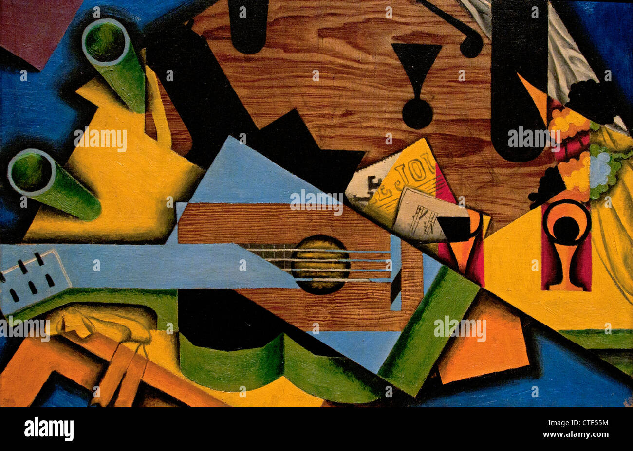Still live with a Guitar 1913 Juan Gris Spain Spanish - Stock Image