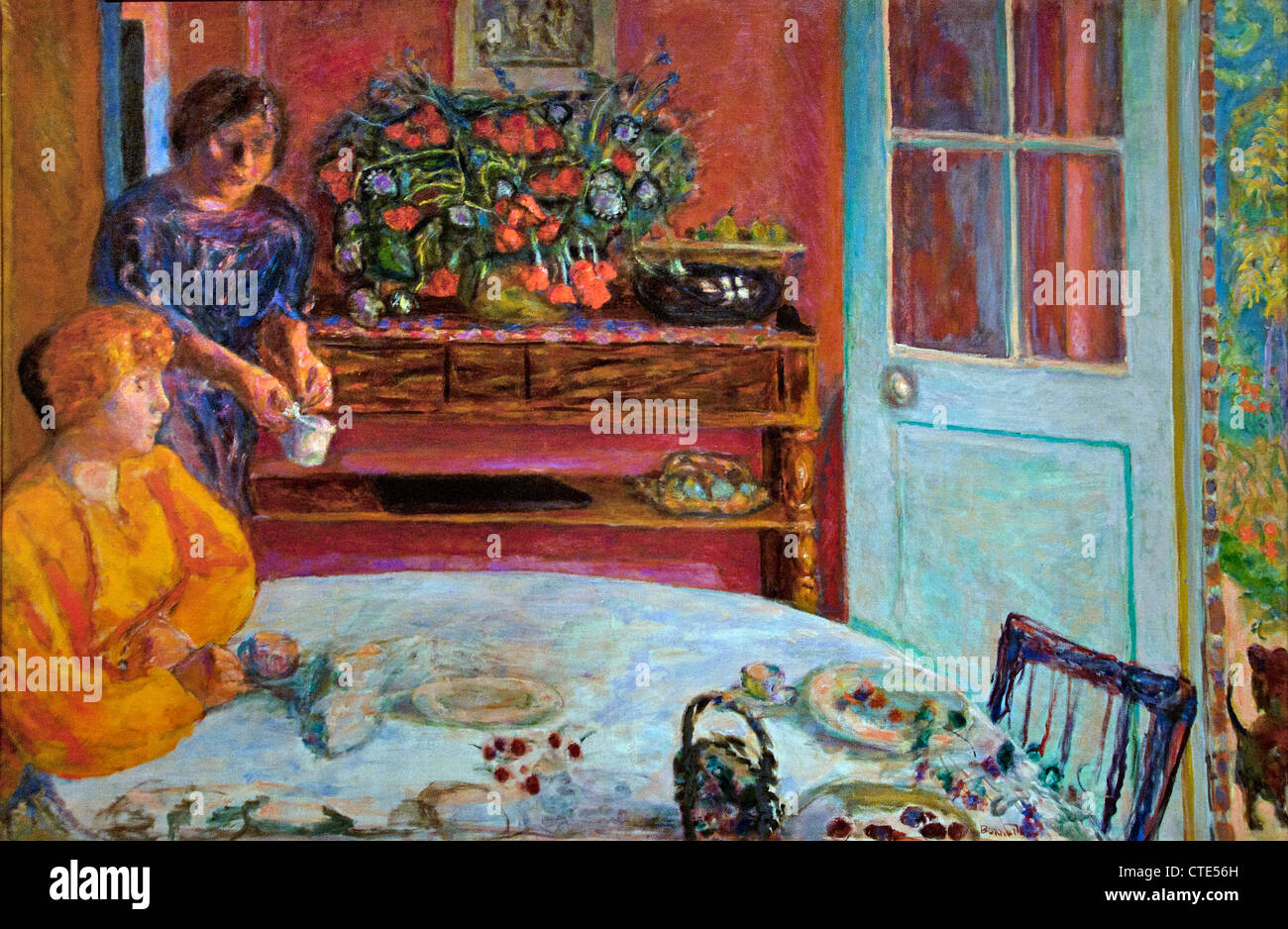 The Dining Room at Vernonnet 1916 Pierre Bonnard 1867 - 1947 France French - Stock Image