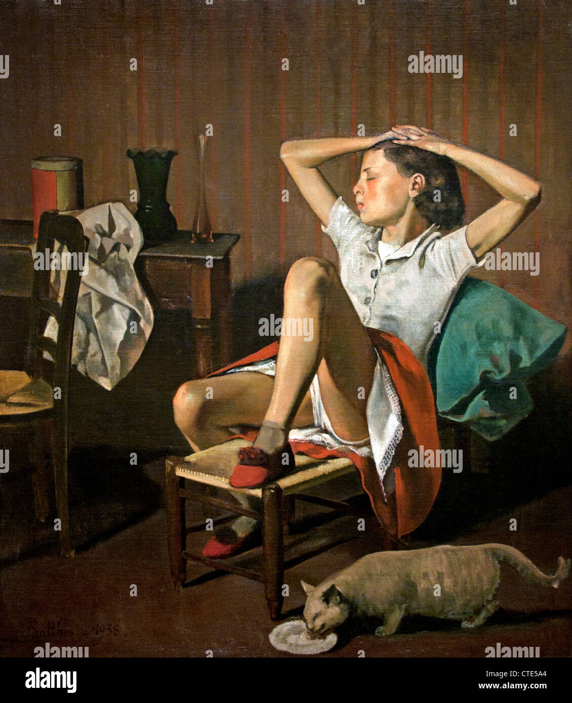 Therese Dreaming 1938 by Balthus French France - Stock Image