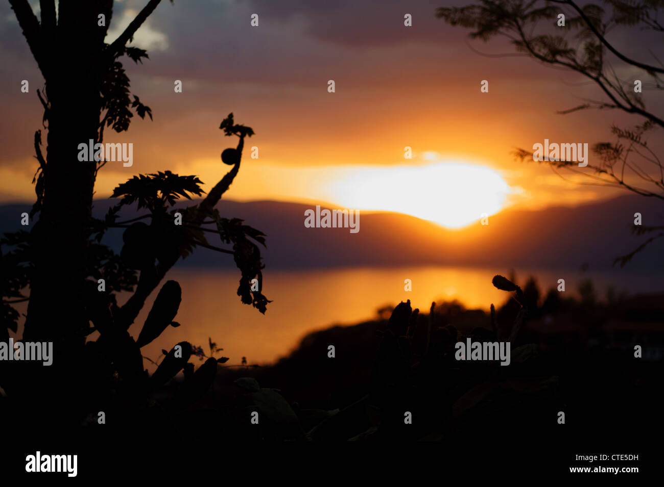 Rising sun in Mexico - Stock Image