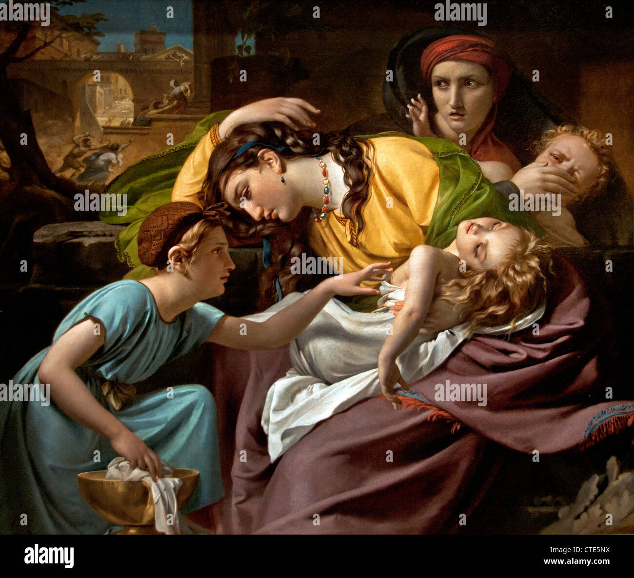 Le Massacre des Innocents  1816 by Francois Joseph Navez Belgian Belgium Stock Photo