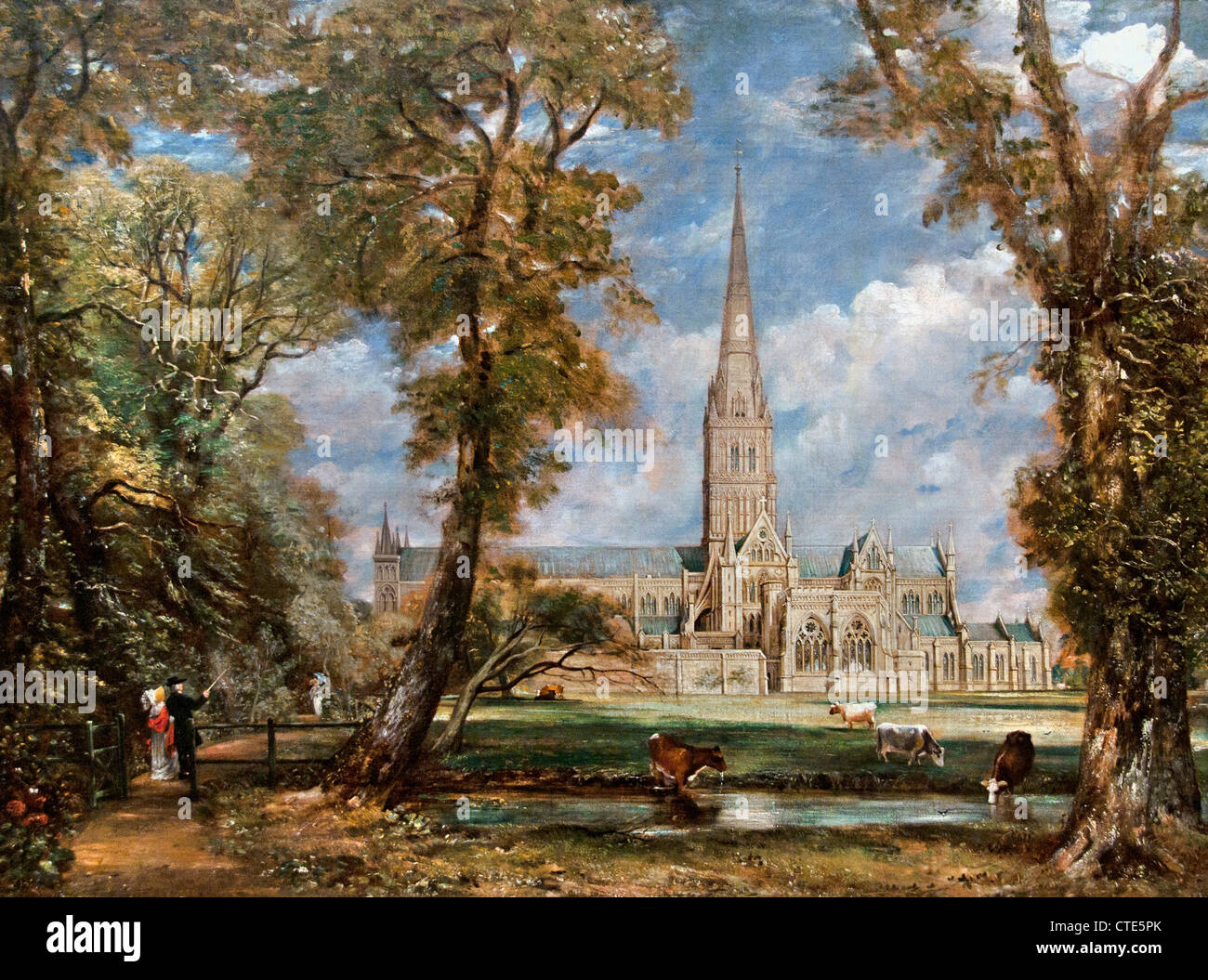 Salisbury Cathedral from the Bishop's Grounds 1825 John Constable English1776–1837 United Kingdom Stock Photo