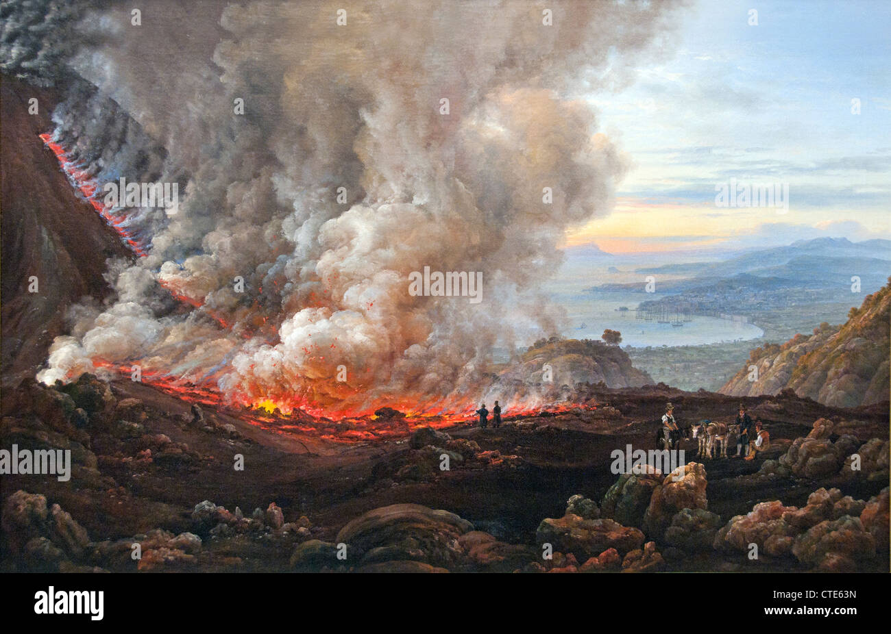 The Eruption of Vesuvius 1824 Italy Johan Christian Dahl 1830 Norwegian 1788–1857 Norway Stock Photo
