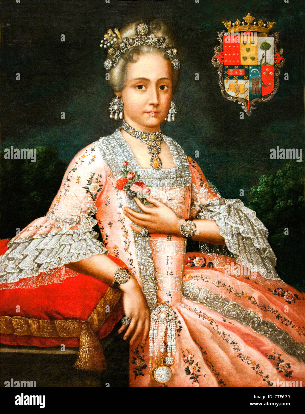 Rosa Maria Salazar.Dona Rosa Maria Salazar Y Gabino Countess Of Montoblanco And