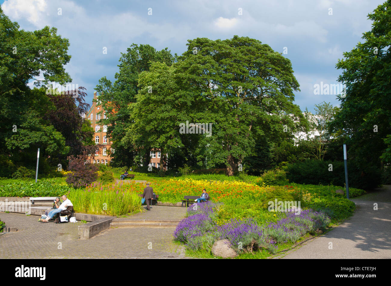 Grosse Wallanlagen park Sankt Pauli district Hamburg Germany Europe - Stock Image