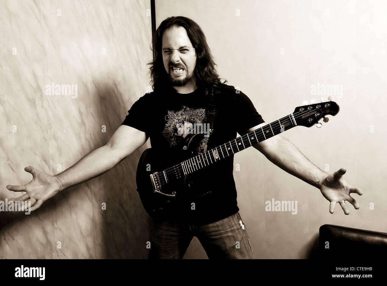 Dream Theater, music, concert, guitarist, John Petrucci, artist, band Dream Theater, American progressive metal - Stock Image