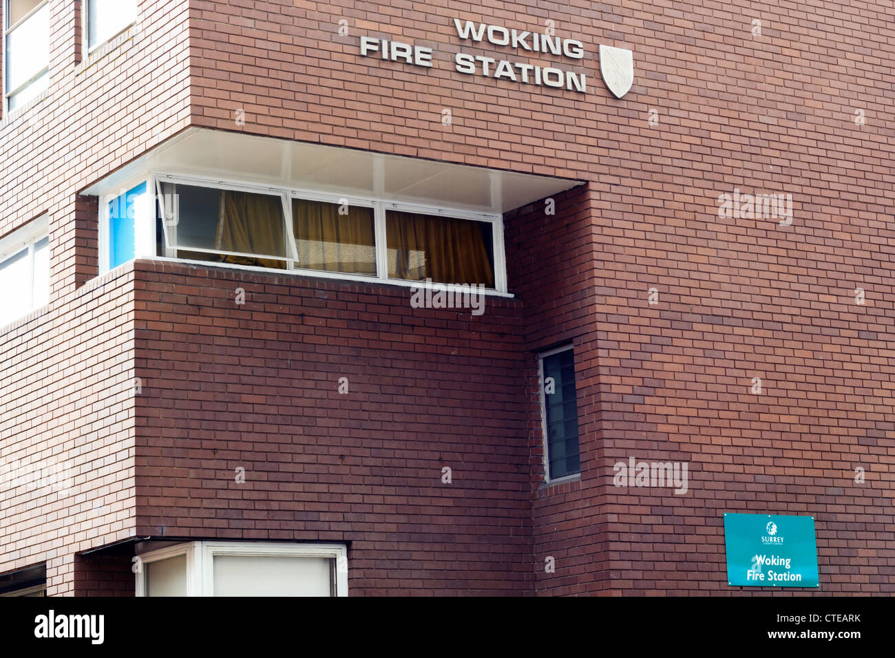The Woking fire station, now demolished. - Stock Image