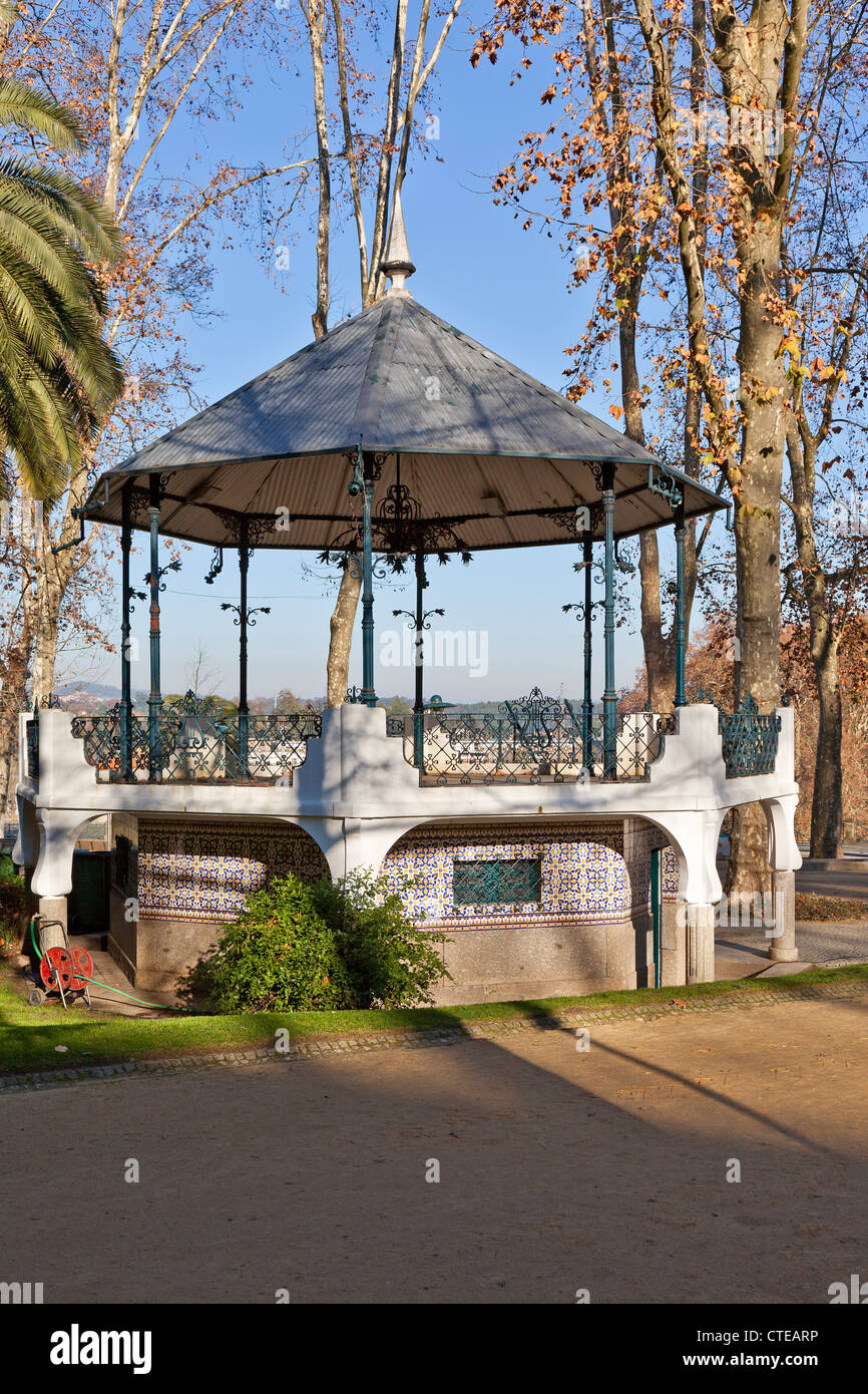 Bandstand in the Dona Maria II Park, Santo Tirso city, Portugal. - Stock Image