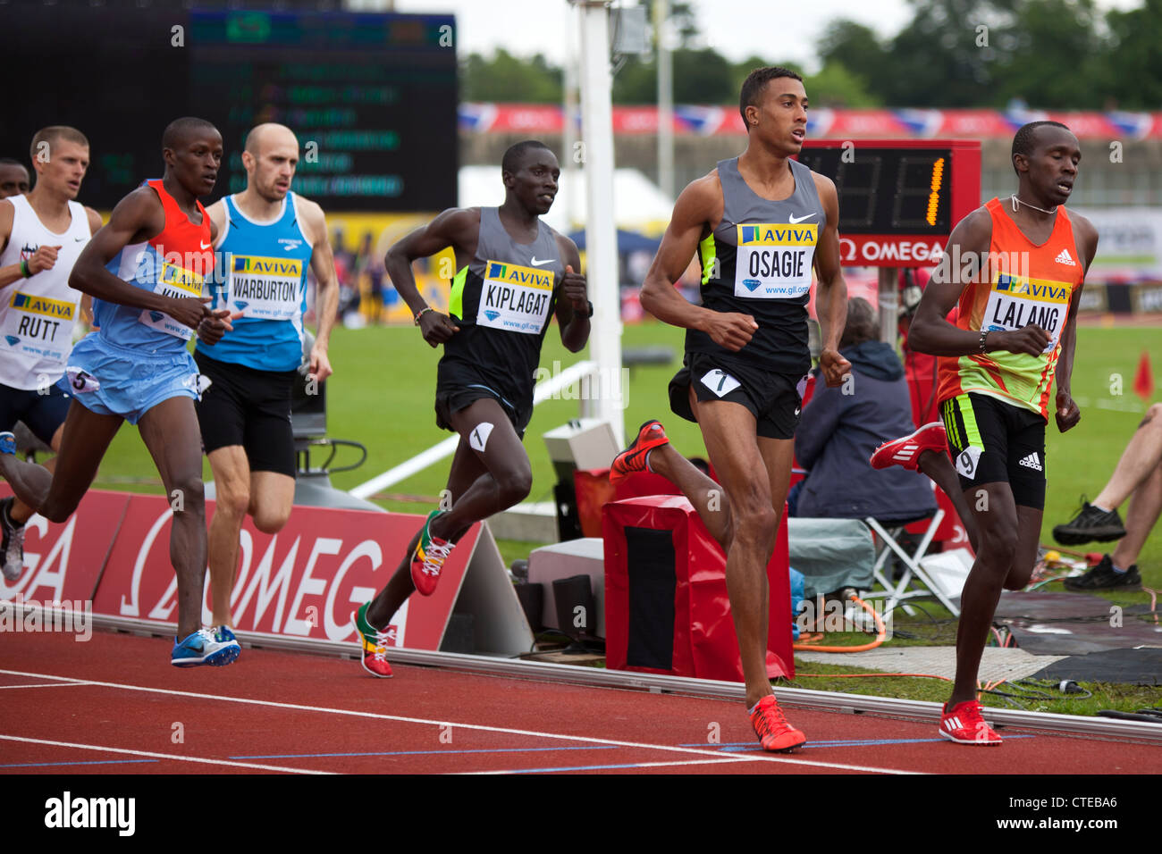 Mens 800m, Aviva London Grand Prix, Crystal Palace, London 2012 - Stock Image