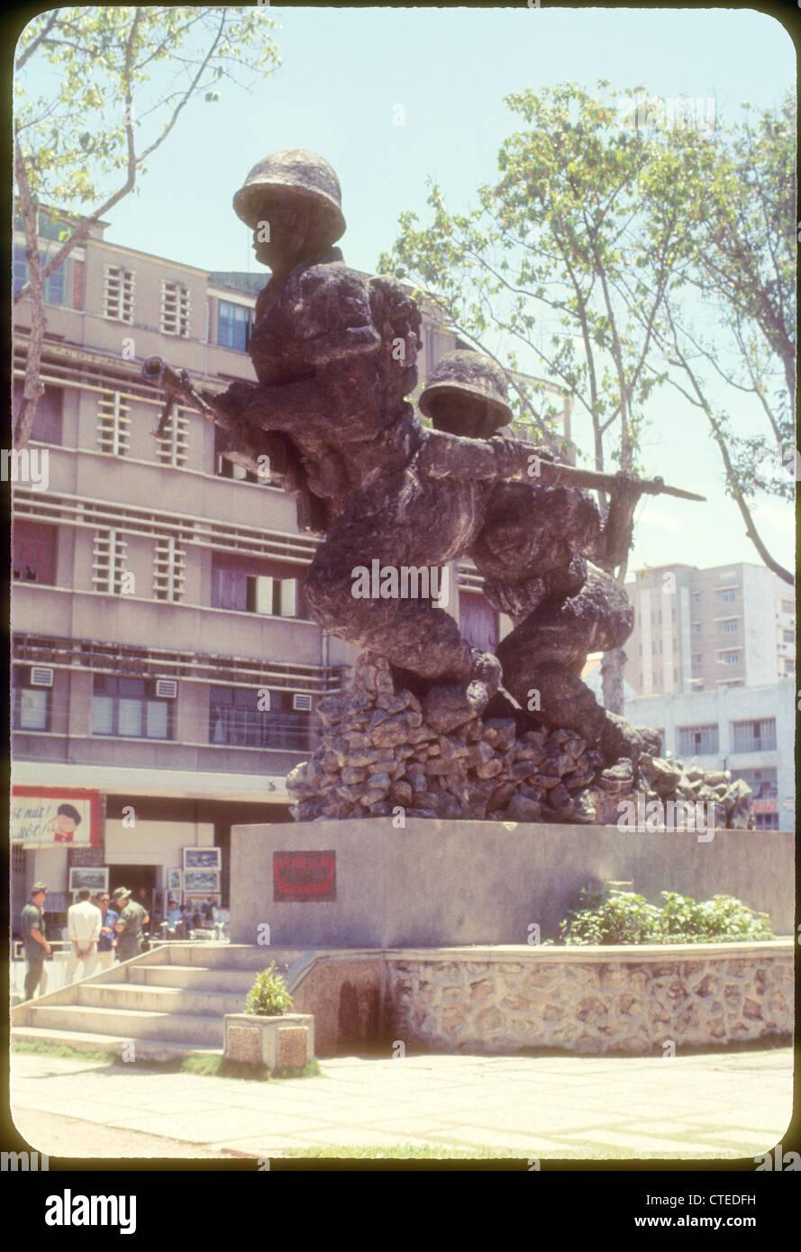 Vietnam war monument vietnam 1969 --- Saigon??? - Stock Image
