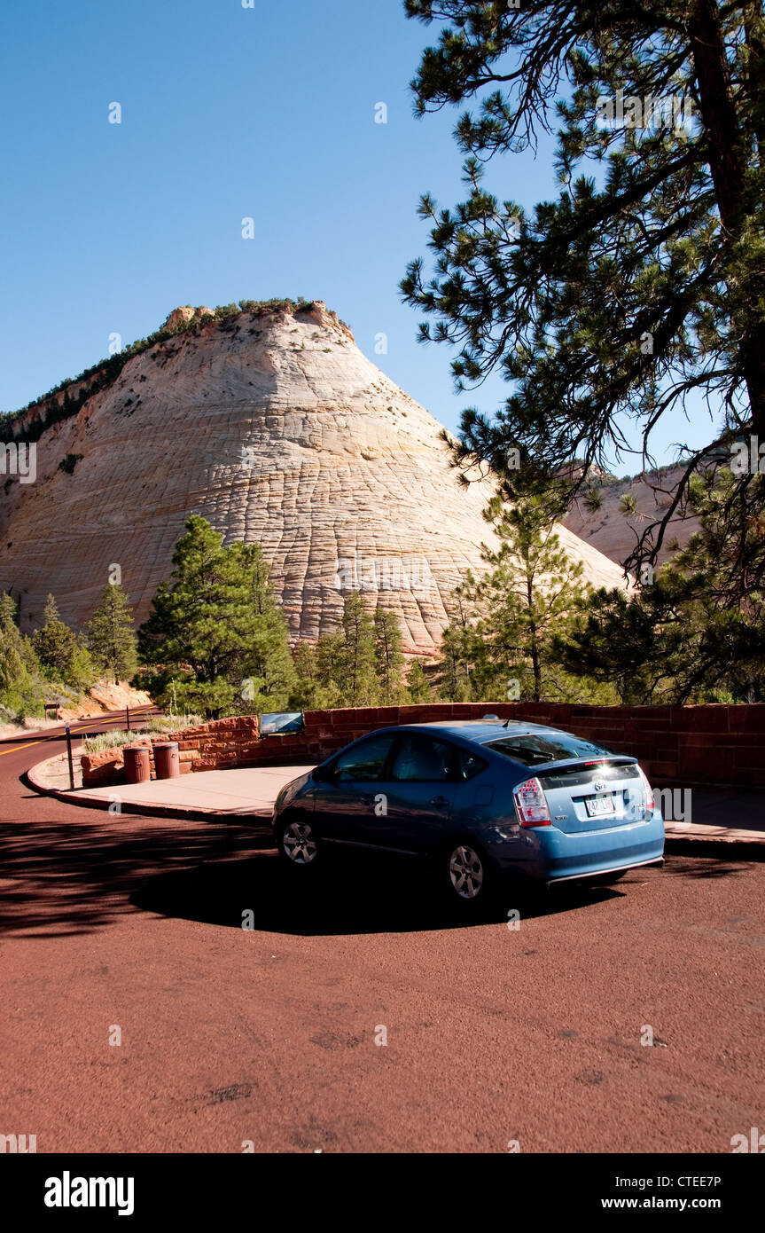 USA Utah, Checkerboard Mesa in Zion National Park. - Stock Image