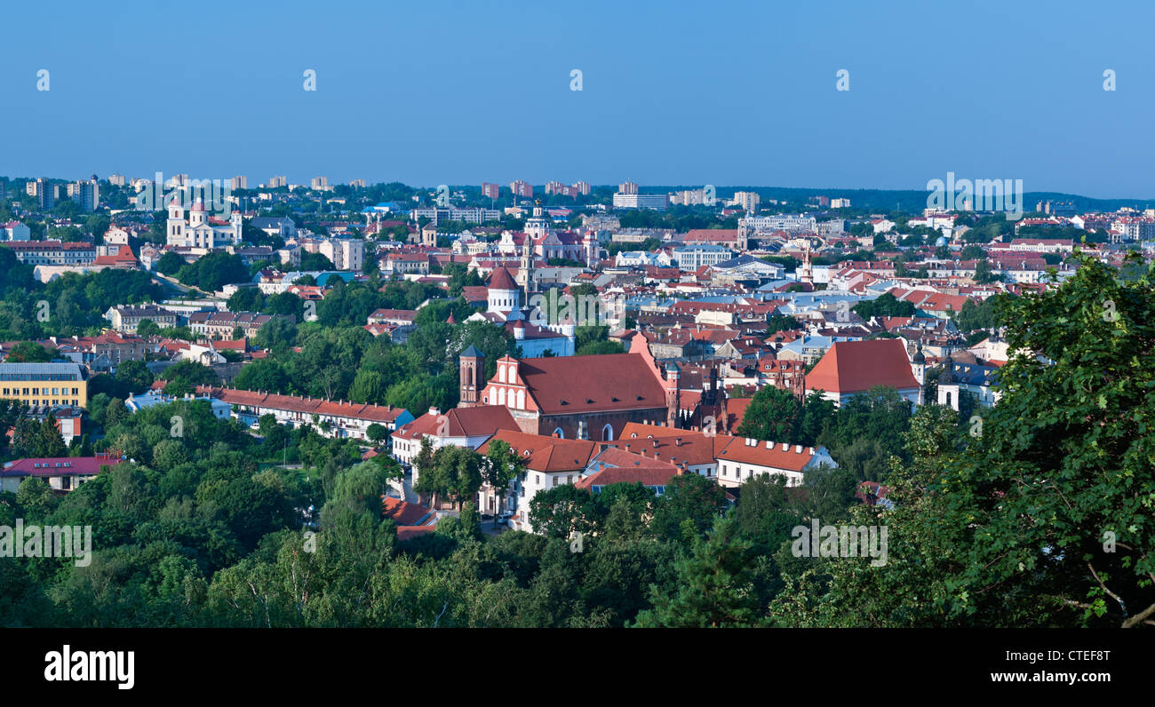 Vilnius city view Lithuania - Stock Image