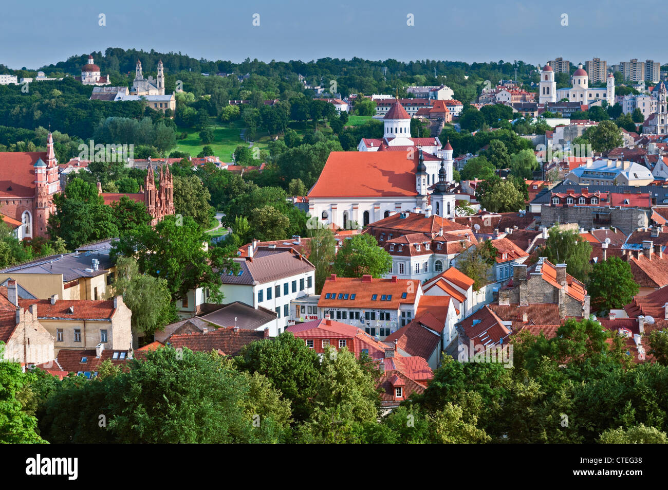 City view to Church of St Michael Vilnius Lithuania - Stock Image