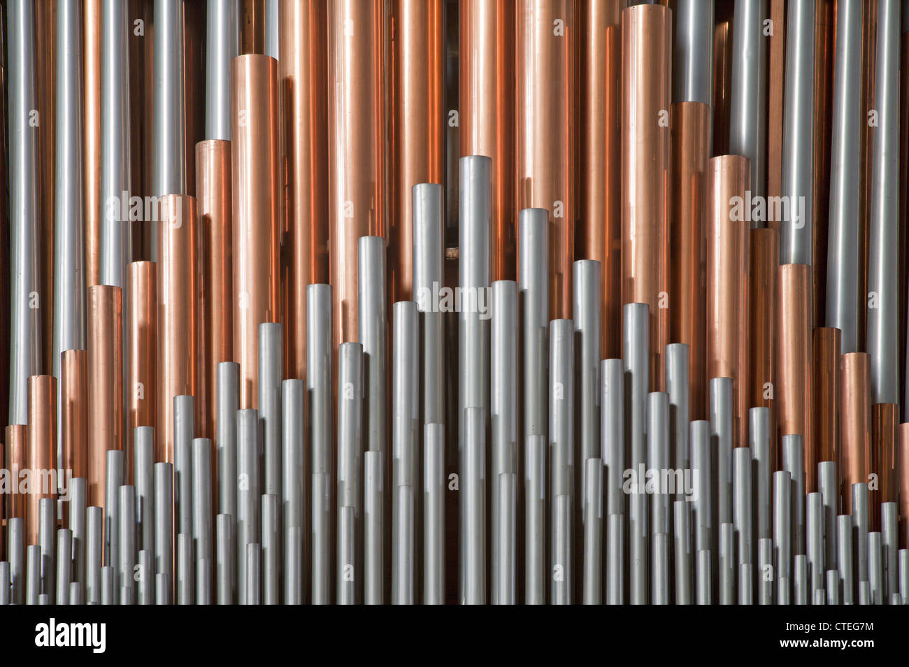 Brussels - Detail from organ in National Basilica of the Sacred Heart - Stock Image