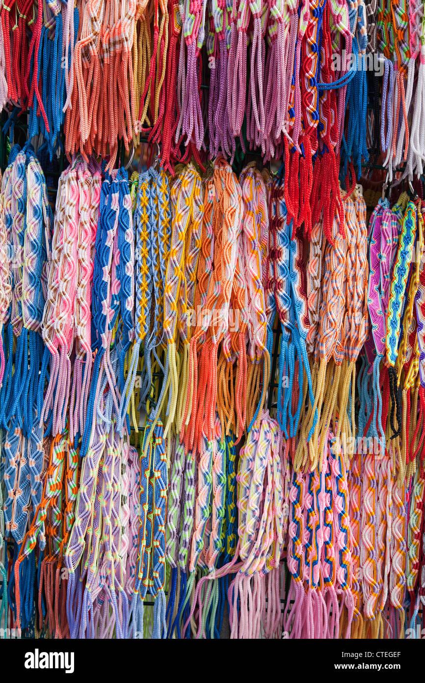 fleece bangles - Stock Image