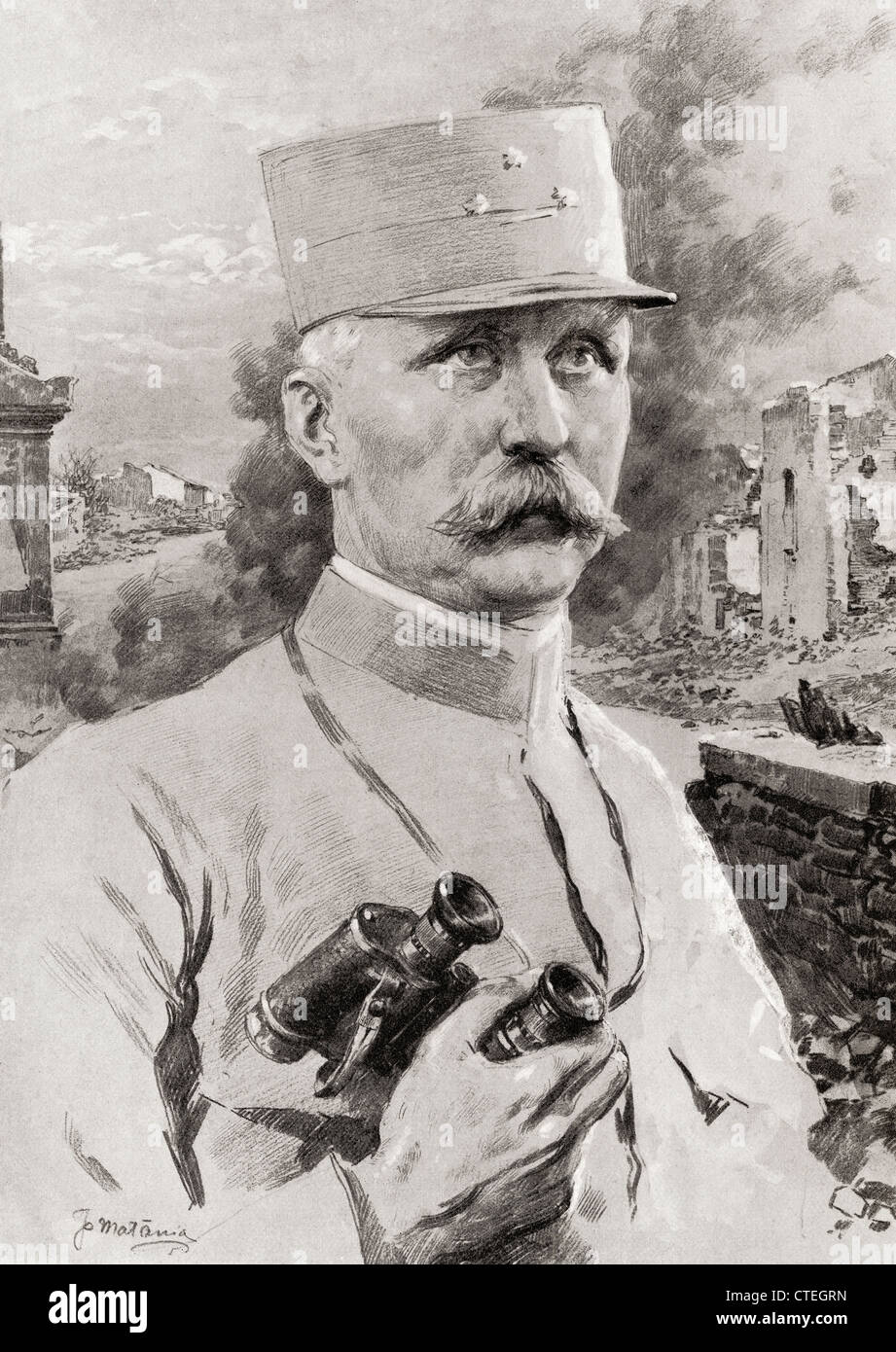 Henri Philippe Benoni Omer Joseph Pétain, 1856 – 1951, aka Philippe Pétain or Marshal Pétain. - Stock Image