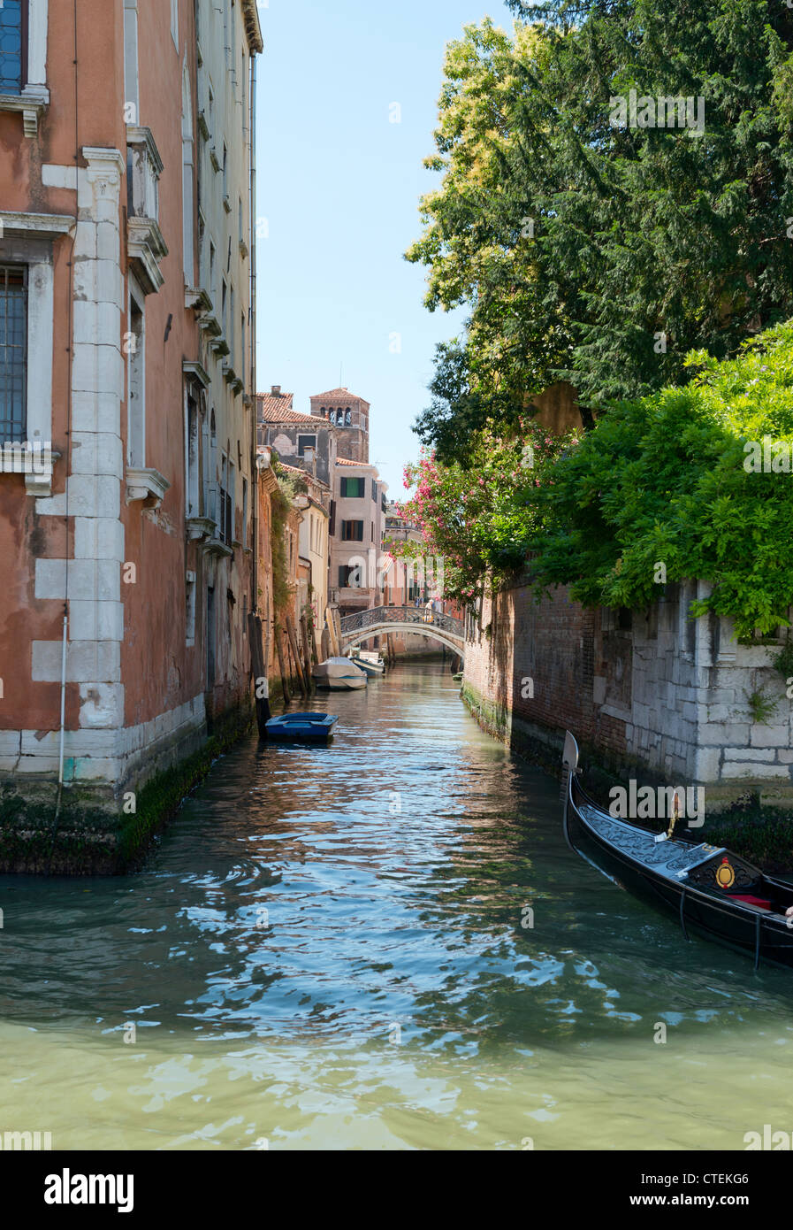 Buildings on the Grand Canal Venice Italy Stock Photo