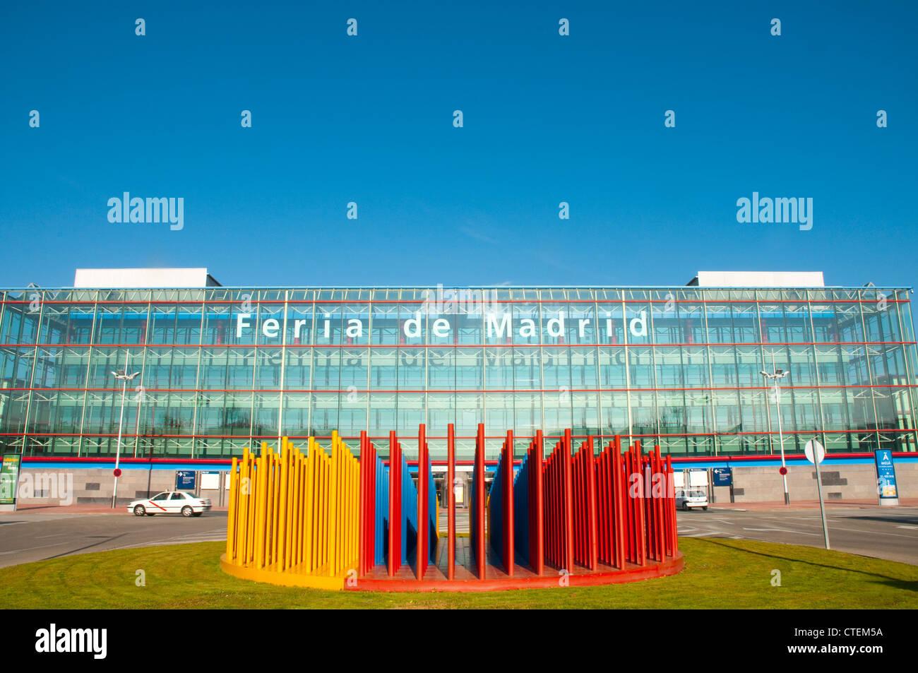 IFEMA facade. Feria de Madrid, Campo de las Naciones, Madrid, Spain. - Stock Image