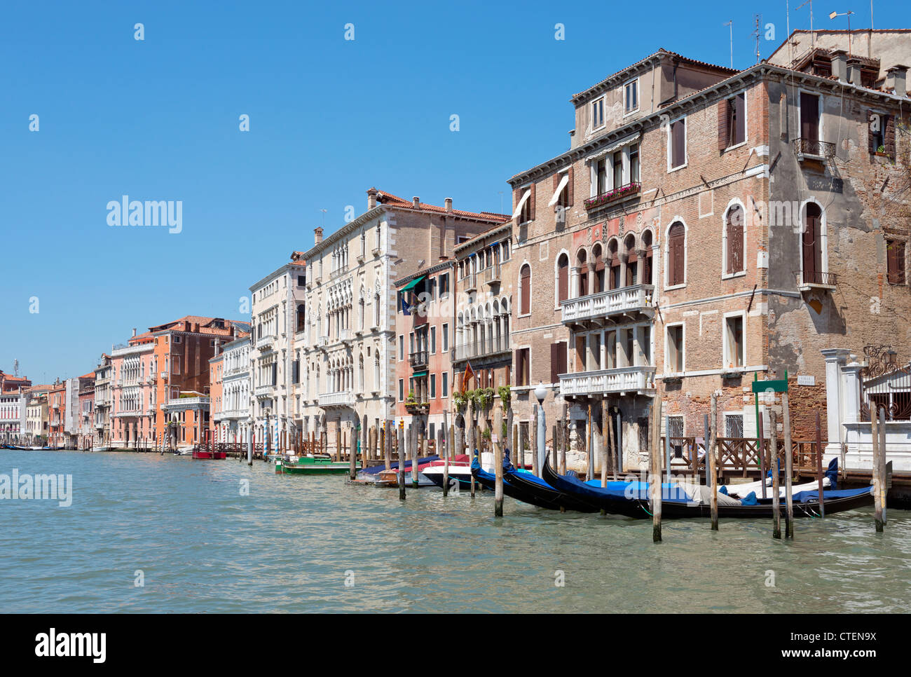 Cityscape taken on the Grand Canal Venice Italy Stock Photo