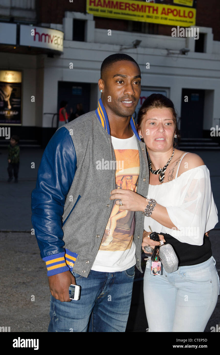 Simon Webb from Blue and fan The Art of Rap film premiere Hammersmith Apollo, London  Uk - Stock Image