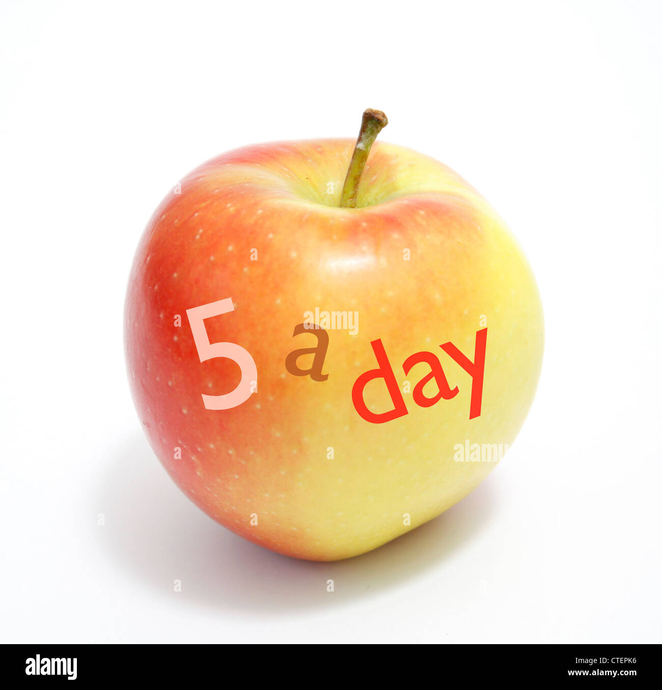 5 a day - Stock Image