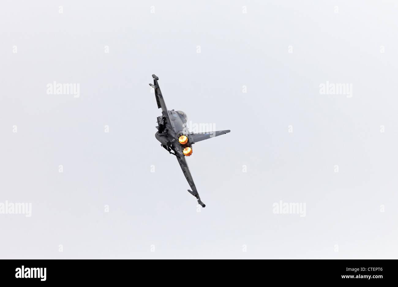Farnborough International Airshow Eurofighter Typhoon  re heat - Stock Image