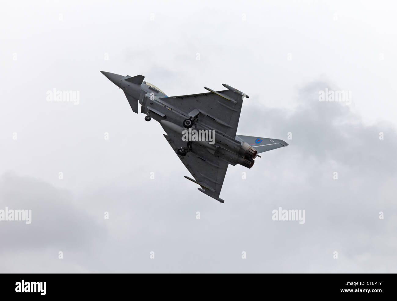 Farnborough International Airshow Eurofighter Typhoon Stock Photo