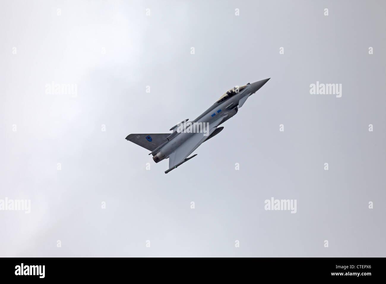 Farnborough International Airshow Eurofighter Typhoon - Stock Image