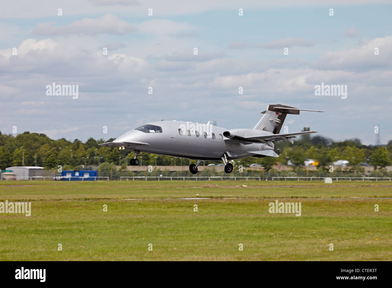 Farnborough International Airshow Piaggio Aero Industries P 180 Avanti II - Stock Image