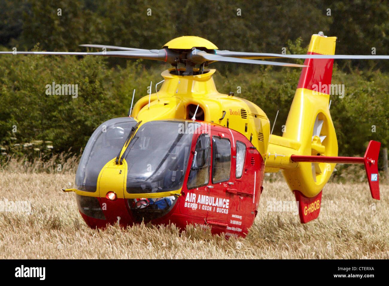 Berks Oxon Bucks Air Ambulance Helicopter G-HBOB - Stock Image
